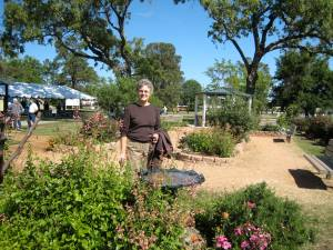 Carol Bennett and the Butterfly Garden at Matzke Park.